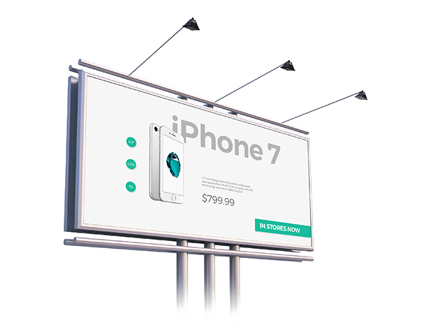 iphone 7 billboard beispiel
