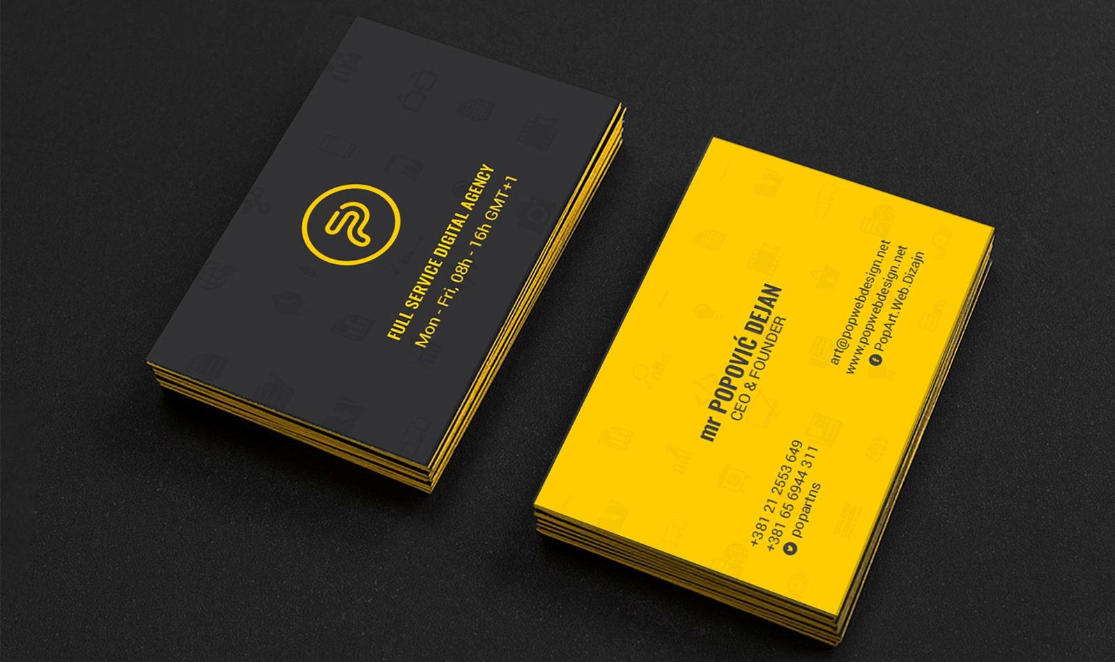Design Von Visitenkarten