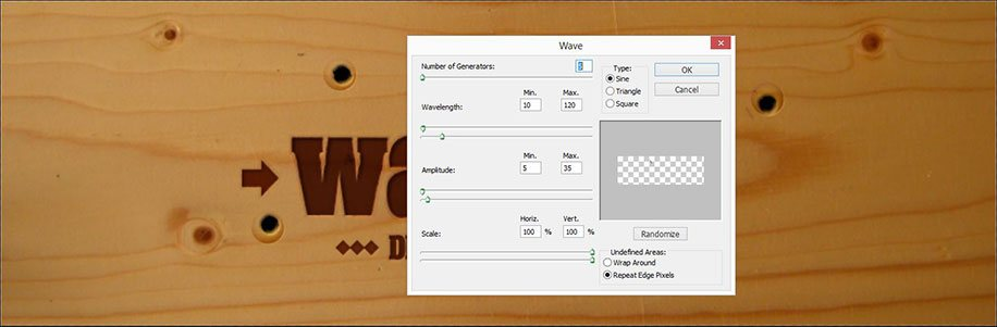 photoshop holztextur-effekt filters settings