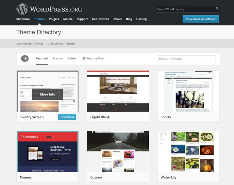 Berühmteste kostenlose Themen auf WordPress
