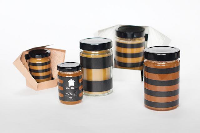 Design-Etiketten für Honig aus baus 1