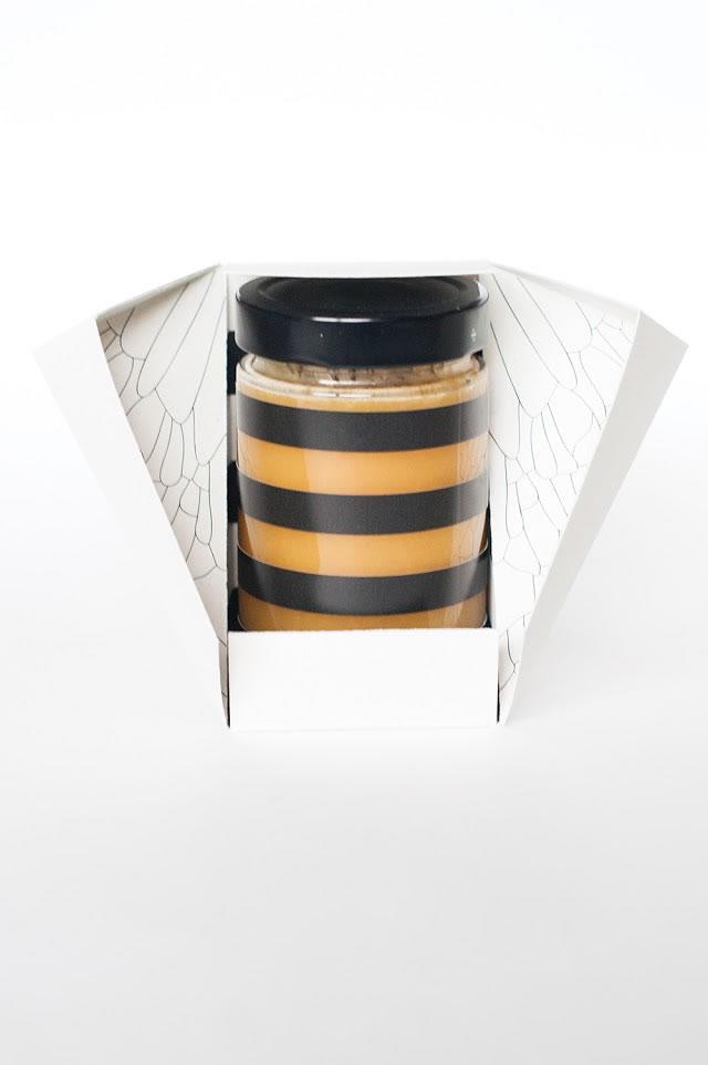 Design-Etiketten für Honig aus baus 2