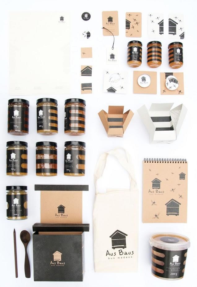 Design-Etiketten für Honig aus baus 4