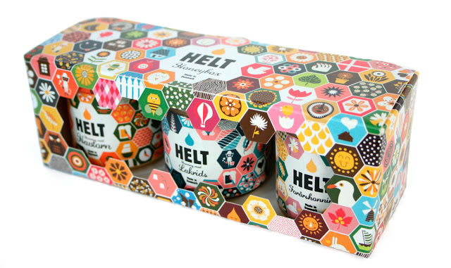 Etiketten für Honig helt 1