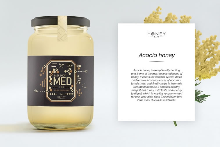 Etiketten für Honig honey days 1