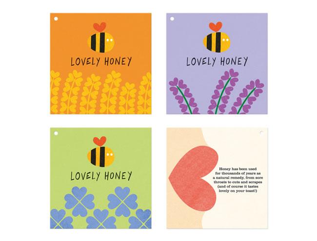 Etiketten für Honig lovely honey 3
