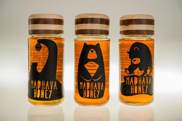 Etiketten für Honig madhava honey rebrand 1