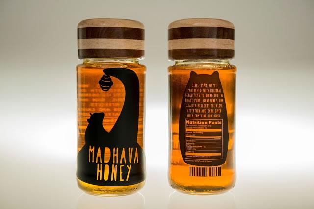 Etiketten für Honig madhava honey rebrand 3