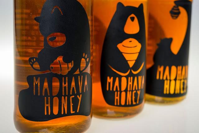 Etiketten für Honig madhava honey rebrand 4