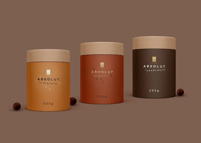 VVerpackung von Süßwarenerzeugnissen inspirierende Ideen Absolut Lyra chocolate
