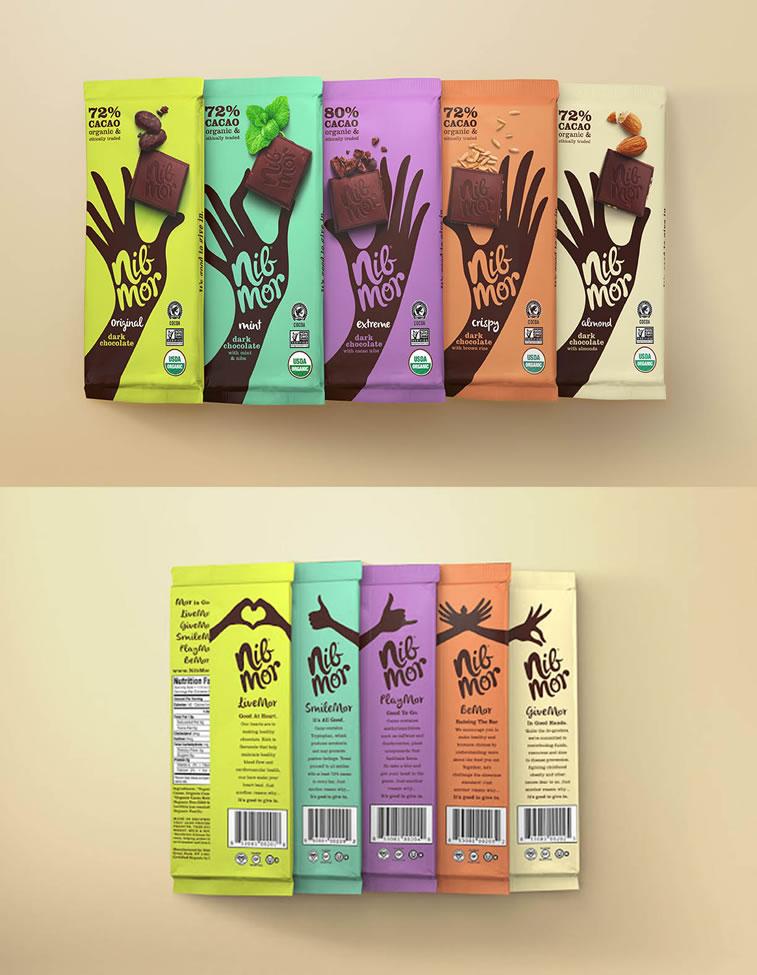 Verpackung von Süßwarenerzeugnissen inspirierende Ideen Nibmor chocolate