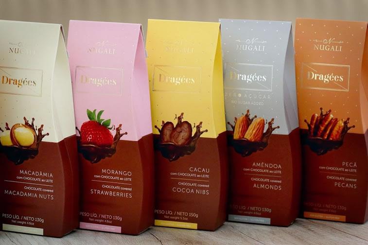 Verpackung von Süßwarenerzeugnissen inspirierende Ideen Nugali dragees