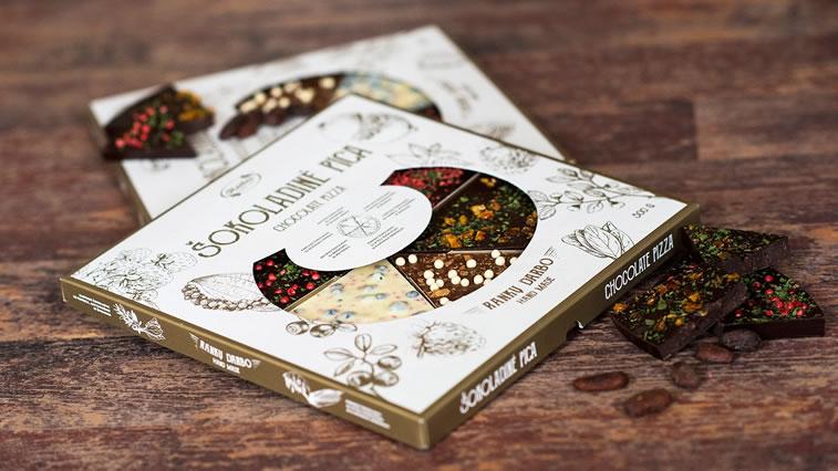 VVerpackung von Süßwarenerzeugnissen inspirierende Ideen Ruta Chocolate Pizza