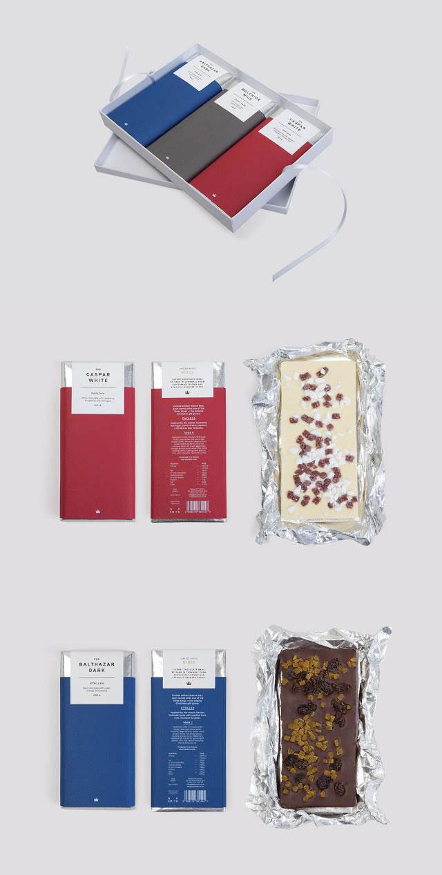 VVerpackung von Süßwarenerzeugnissen inspirierende Ideen Three kings chocolate