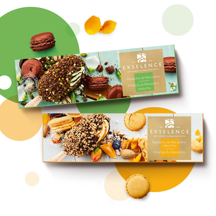 Verpackung von Süßwarenerzeugnissen inspirierende Ideen ekselence macarons