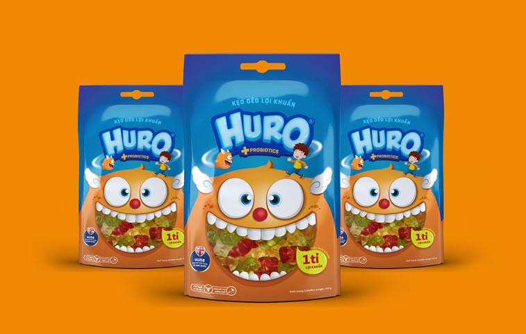 Verpackung von Süßwarenerzeugnissen inspirierende Ideen huro gummy