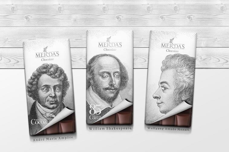 Verpackung von Süßwarenerzeugnissen inspirierende Ideen merdas chocolate
