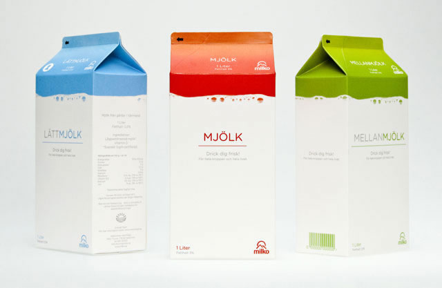 Kreative Milchverpackungen Beispiele 22