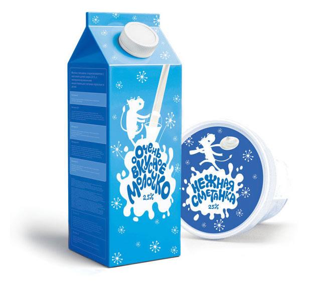 Kreative Milchverpackungen Beispiele 26