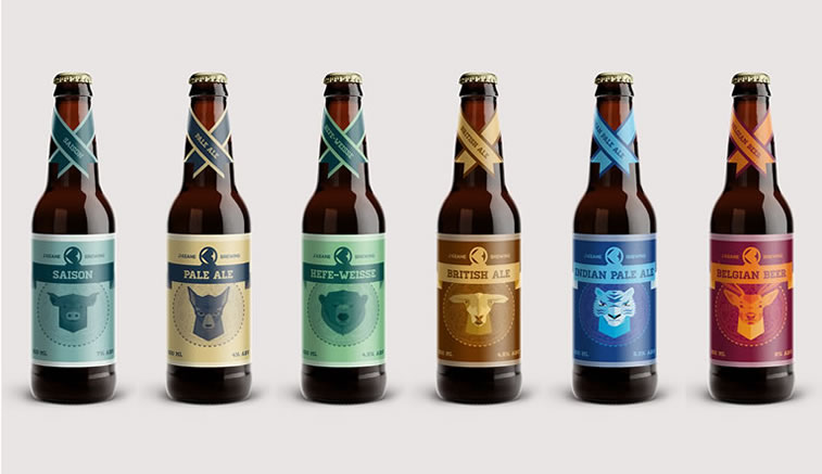 bierverpackung design Keane Brewing