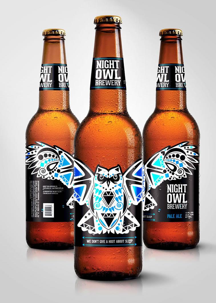 bierverpackung design Night Owl Brewery