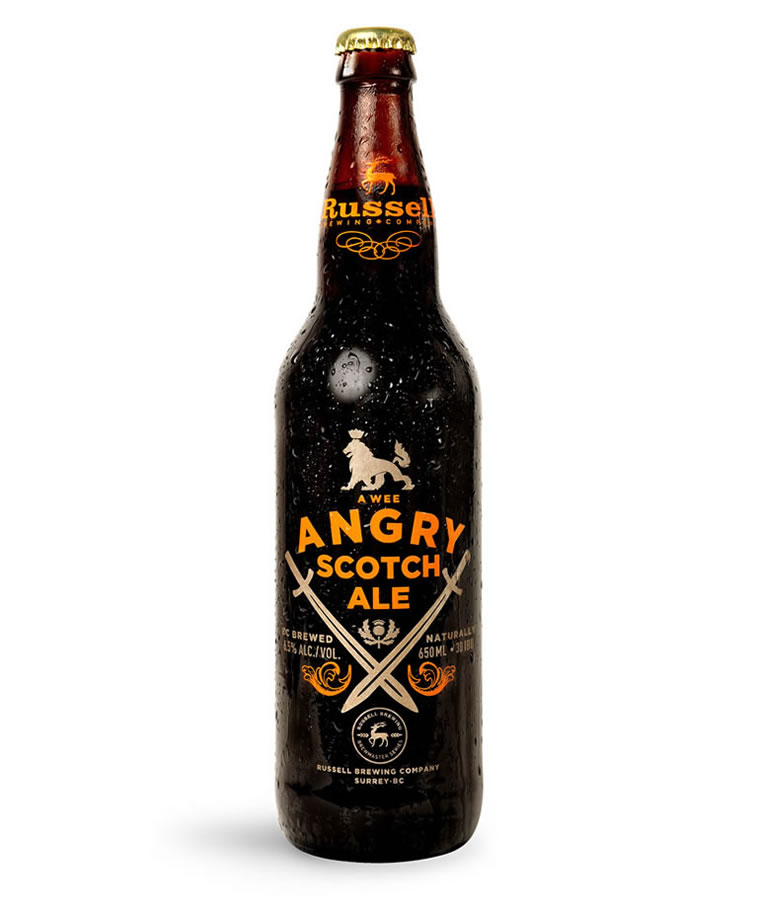 bierverpackung design angry scotch ale