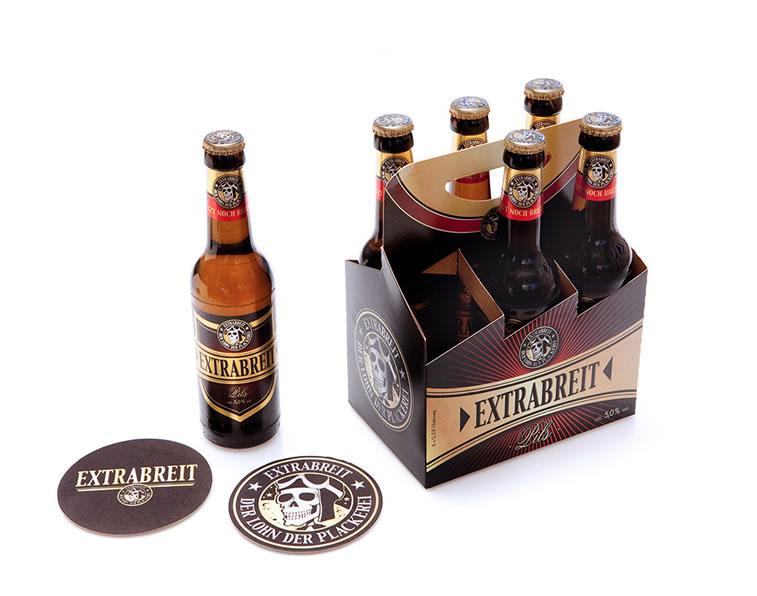 bierverpackung design extrabreit bier