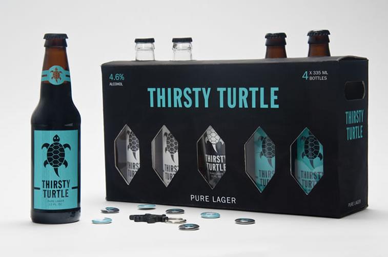 bierverpackung design thirsty turtle bier