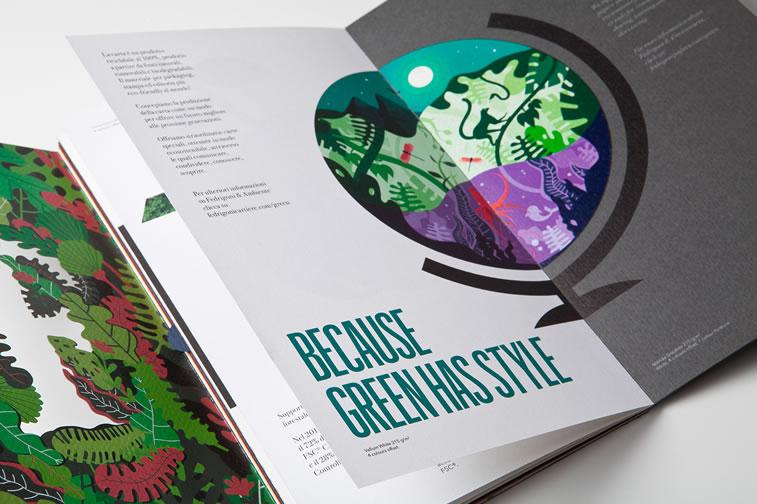 Broschüren-Design mit hervorragenden Illustrationen Inspiration 13