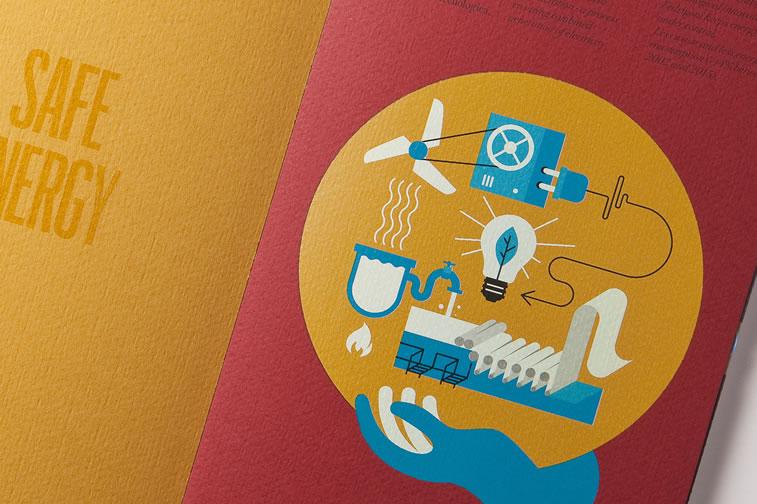 Broschüren-Design mit hervorragenden Illustrationen Inspiration 14