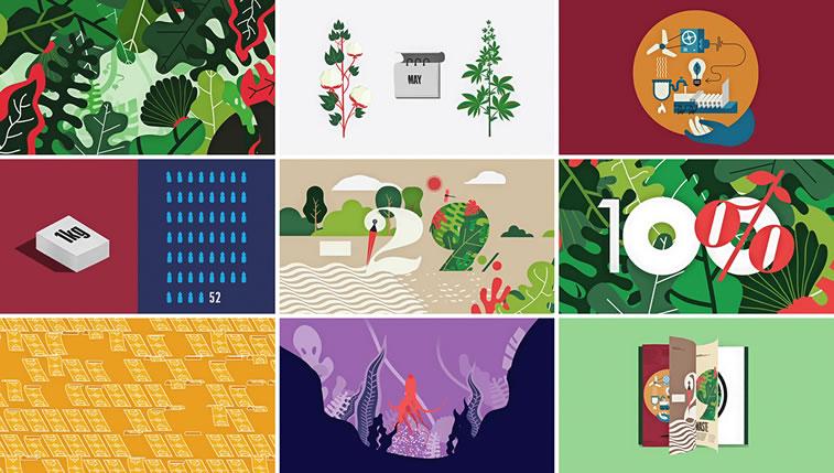 Broschüren-Design mit hervorragenden Illustrationen Inspiration 3