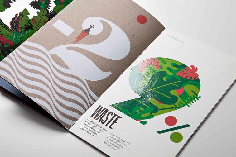 Broschüren-Design mit hervorragenden Illustrationen Inspiration 6