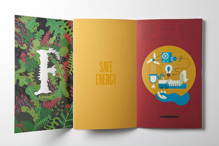 Broschüren-Design mit hervorragenden Illustrationen Inspiration 8