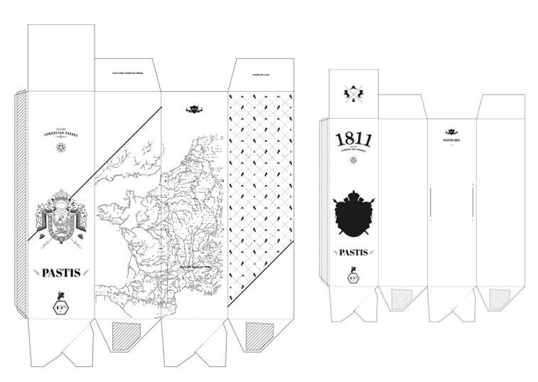 Etiketten-Design pastis 1811 2