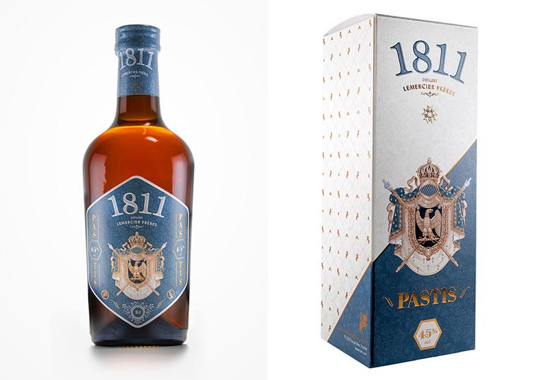 Etiketten-Design pastis 1811 3