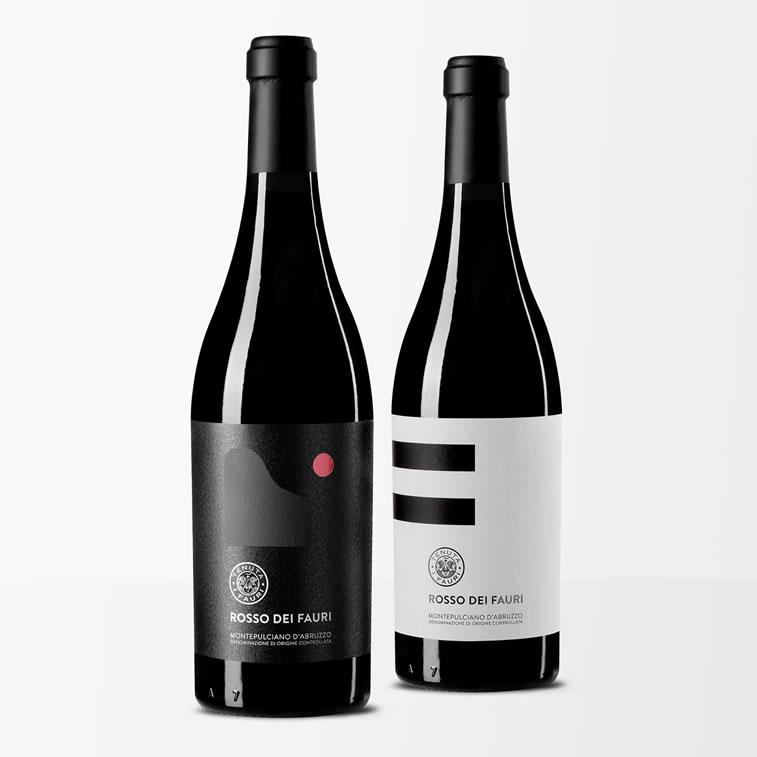 Etiketten-Design rosso dei fauri 2