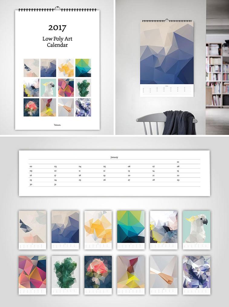 Kreative Beispiele für Kalenderdesign