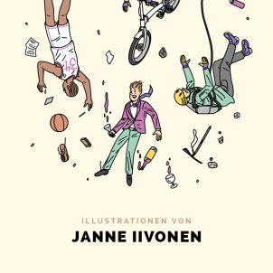 Zeichentrickfiguren vom finnischen Illustrator Janne Iivonen