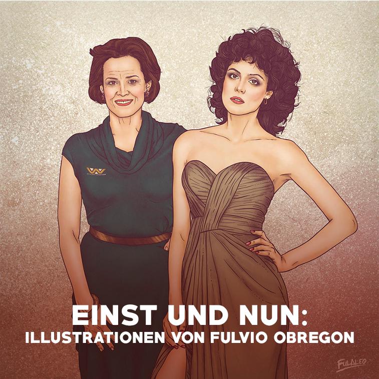 Einst und nun: Illustrationen von Fulvio Obregon