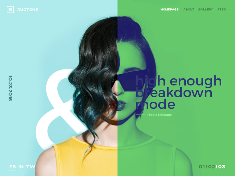 trends im webdesign 2017 duotone