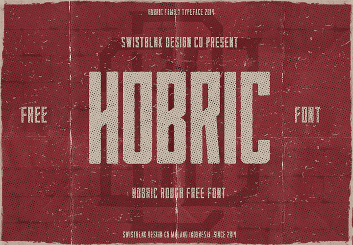 hobric-rough-font