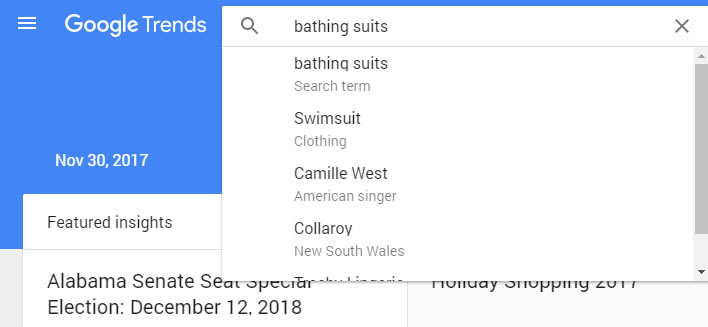 bathing suit googletrends