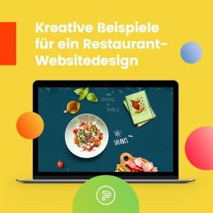 Kreative Beispiele für Restaurant-Websitedesign