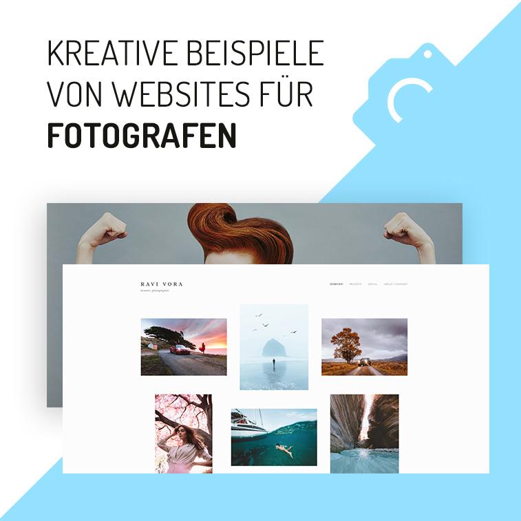 Kreative Beispiele von Websites für Fotografen