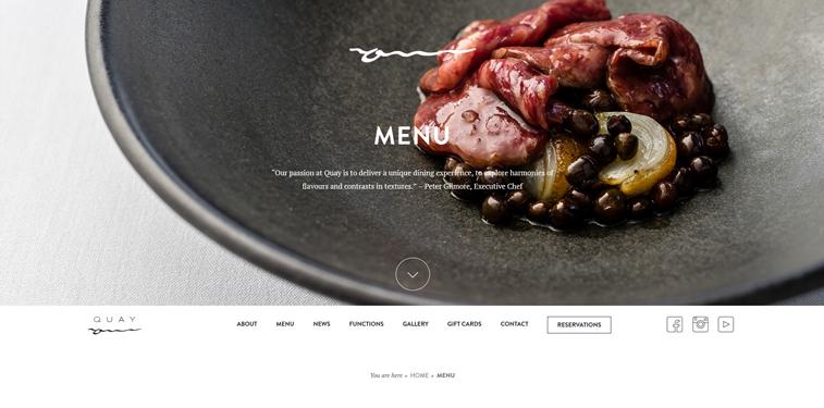 Quay-menu