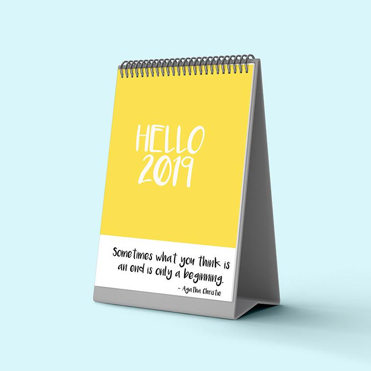 Inspirative Design-Kalender Beispiele für das Jahr 2019
