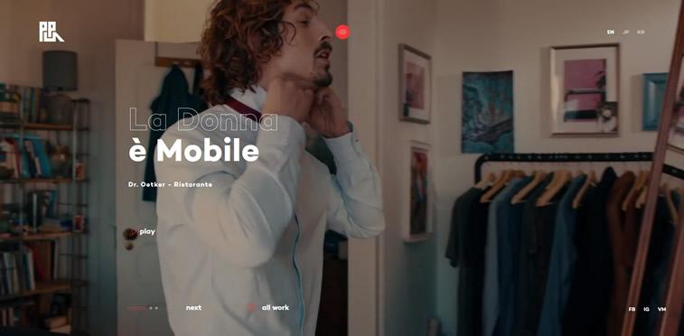 Produktion Portudgal webseite videohintergrund design