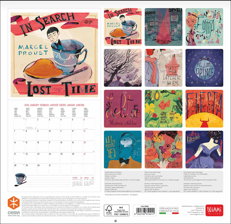 The book lovers kalender