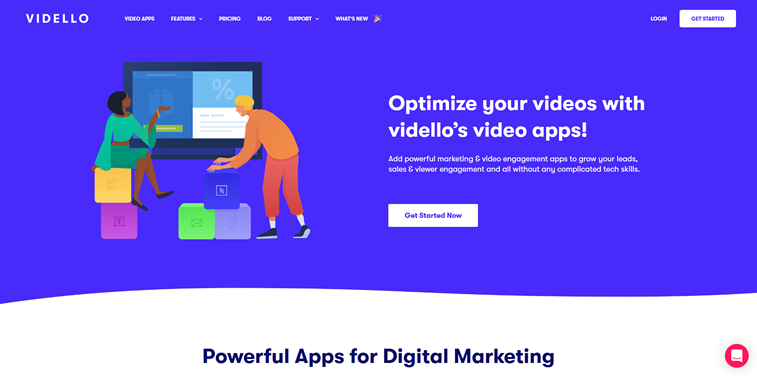 Vidello homepage illustrationen