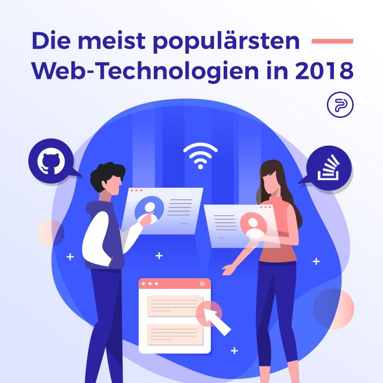 Die meist populärsten Web-Technologien in 2018
